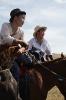 Aankomst paardenrennen